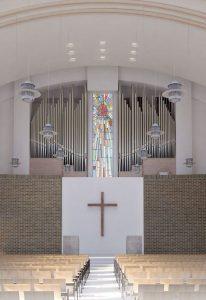 Visualisierung der neuen Orgel für die Aoyama Gakuin Highschool Tokyo