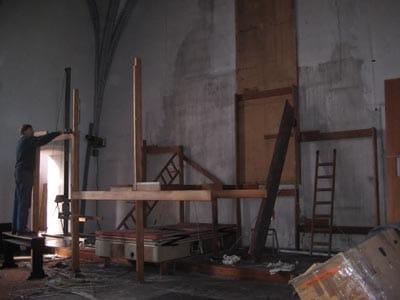 Aachen Citykirche Abbau Klais-Orgel 4