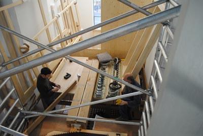 Orgelaufbau Rheydt Weimbs-Orgel 8