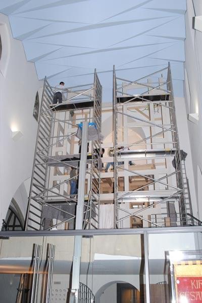 Orgelmontage Rheydt Weimbs-Orgel 21