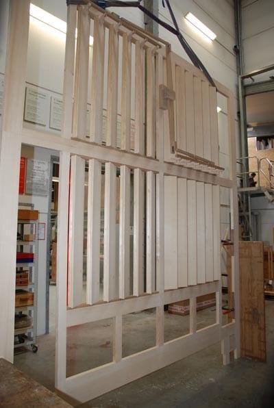 Schwellwerk-Jalousien Rheydt Weimbs-Orgel 12