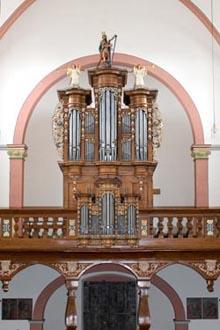 Zeltingen-Rachtig, St Marien - neues Orgelwerk nach König im historischen Gehäuse - Weimbs-Orgel