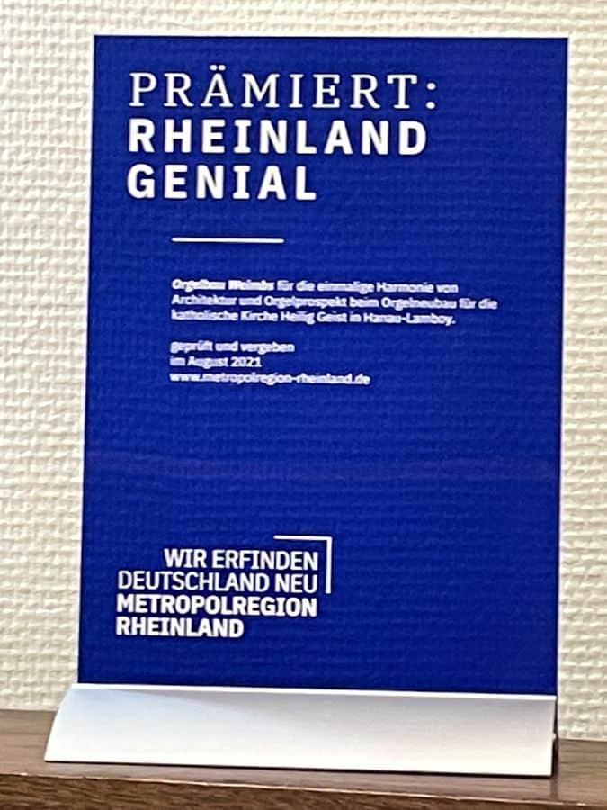 GENIAL AWARD RHEINLAND
