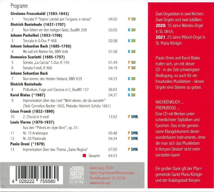 CD Weimbs-Orgel Kerpen u.a. St. Ulrich